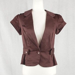 Wet Seal short sleeve jacket, button details XL